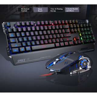 (FREE XL MOUSEPAD) SADES Blademail Professional Gaming Keyboard+Mouse