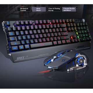 (FREE XL MOUSEPAD) SADES Blademail Professional Gaming Keyboard+Mouse