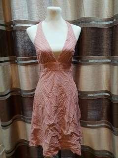 Pink Halter Dress Small