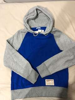 New Abercrombie & Fitch hoodie blue grey Large