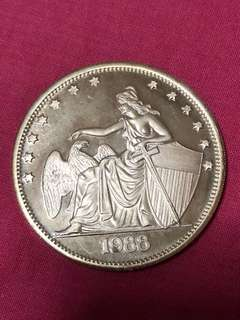 1988 2 Troy Ounces Fine Silver Round