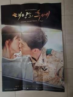 Original AO size poster- Korean drama -Descendants of the Sun