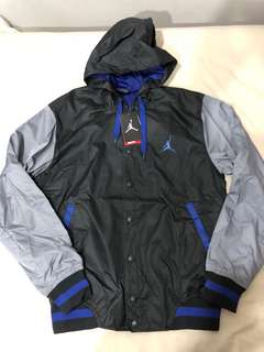 New Air Jordan varsity jacket medium button zip