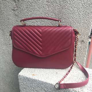 Marron Quilted Bag
