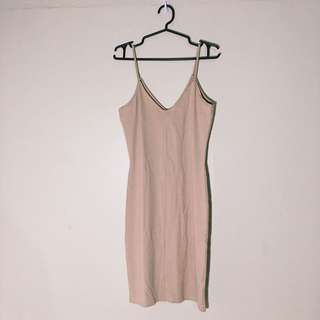 H&M thin strap nude dress
