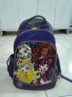 School bag back pack Monster high