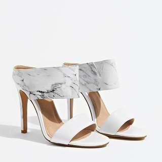 The Geroboc (White Marble Heels)