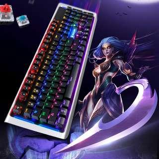 PROMO DEAL!! (FREE XL mousepad) SADES K12 MoonBlade Real Mechanical Blue Switches Gaming Keyboard