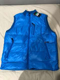 New Air Jordan down feather blue vest jacket XL