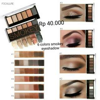 (PO) Smokey Eyeshadow Focallure 6 colors