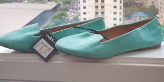 Sophie Slippers - mint green micro