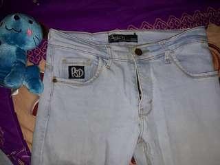 Celana jeans pria wanita jins biru muda psd