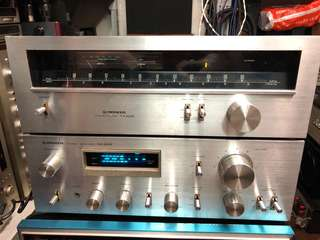 Pioneer 擴音機 +收音頭