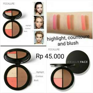 (PO) Highlight Counture and Blush in one palette Focallure