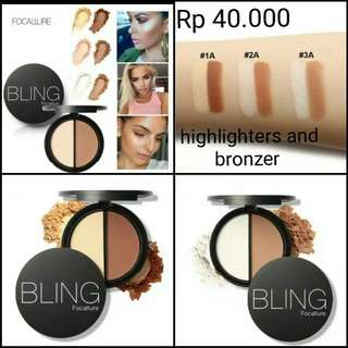 (PO) Bling Focallure Higlighters and Bronzer
