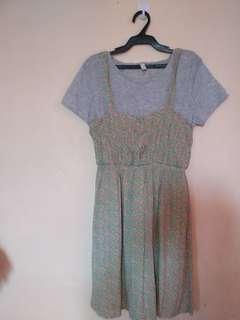 Sale! Slip dress pink/mint floral
