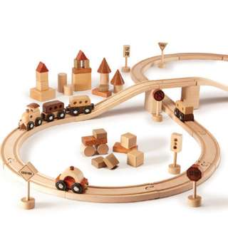 Magic Forest - Red Wood Train Set 57 pcs