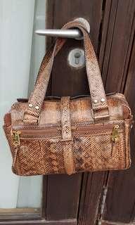 Mulberry Snakeskin Tan Brown Bag