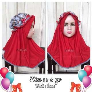 New! Jilbab anak topi