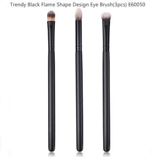 Trendy Black Flame Shape Design Eye Brush(3pcs) E60050