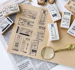 (PO) Travel Tickets Wooden Stamp