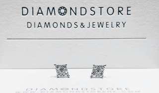 18K750 白金鑽石耳環一對
