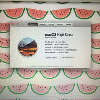Macbook Air 13inch 2017