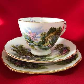英國古茶杯碟