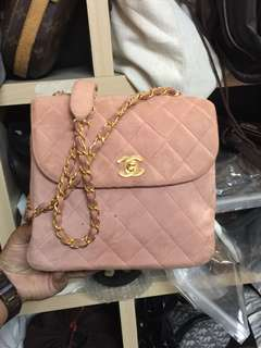 Authentic Vintage Chanel Suede GHW