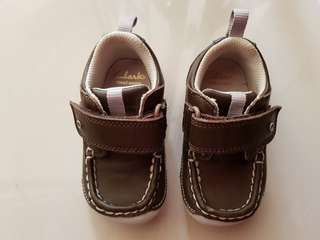 Genuine leather Clarks Baby Boy First Shoes