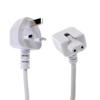 UK Wall Plug Extension Power Cable For MacBook MagSafe Adapters
