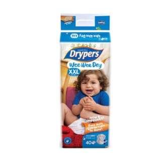Drypers wee wee dry XXL brand new exchange