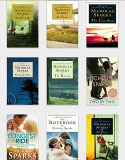 Nicholas Sparks,John Green, Rupi Kaur, and John Grisham EBOOK Copies