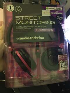 Audio Technica Street Monitoring Headphones