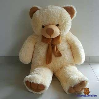 BONEKA TEDDY BEAR JUMBO 1 METER WARNA CREAM KHAS BANDUNG