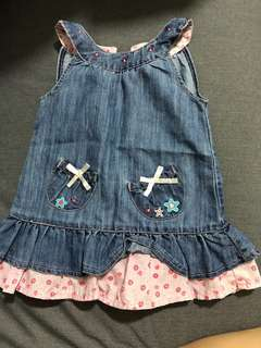 Authentic pumpkin patch denim dress