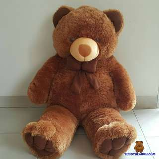 BONEKA TEDDY BEAR JUMBO 1 METER WARNA COKLAT KHAS BANDUNG