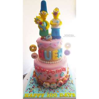 Simpson Family Baby Shower Cake 百日宴蛋糕