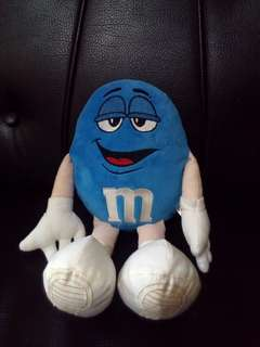 Blue M&M's stuffed toy