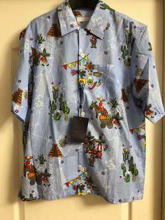 Prada men's aloha shirt new