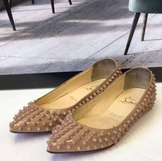 🈹Christian Louboutin Rock Stud Flat Shoes