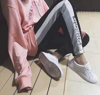 🚚 側條紋拼色休閒褲