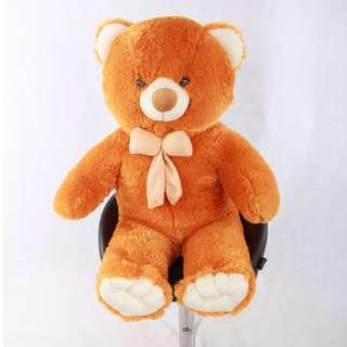 BONEKA TEDDY BEAR JUMBO 1 METER WARNA ORANGE (GOLD) KHAS BANDUNG