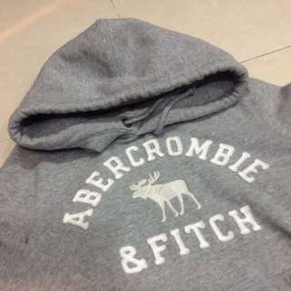 🚚 A&F男版灰色帽T Hoodie M號
