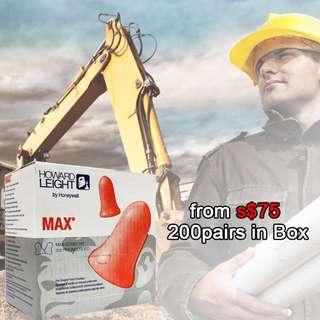 MAX EARPLUGS 200 Pairs WHOLE BOX PROMOTION