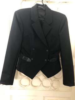 Alexander Wang Black double breasted blazer