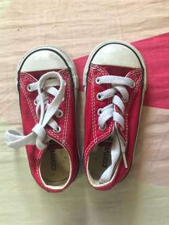 Converse Baby Low Cut Red