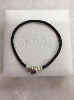 Pandora Black Braided Leather Bracelet