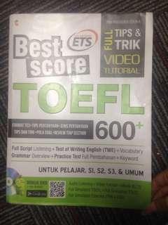Best score toefl 600 lengkap dengan DVD