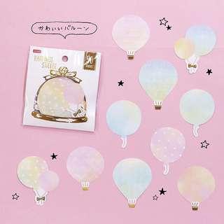 Daiso Flake Stickers - Hot Air Balloon/Balloon